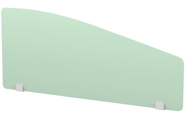 Perspex Curve Desk Screen