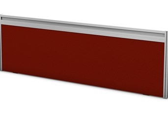 Toolrail Desk Screen - 600 x 380mm Chilli Silver