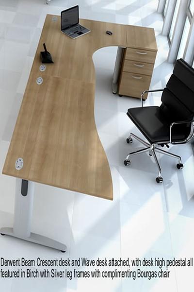 Universal Desk High Pedestal