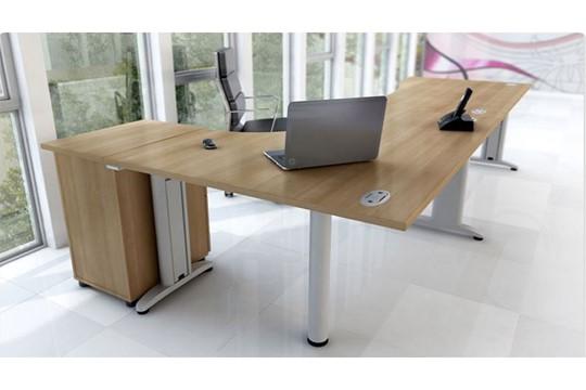 Domino Crescent Extension Desk