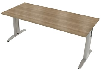 Domino Beam Meeting Table - 1800mm Birch Silver