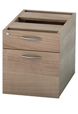 Universal Fixed Pedestal - Birch Two Drawers