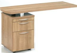 E-Space Side Return with 2 Drawer Pedestal