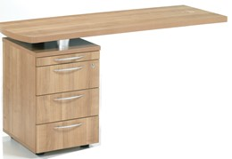 E-Space Side Return with 3 Drawer Pedestal