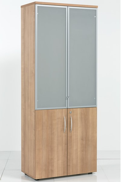 E Space High Cabinet With Glass Doors