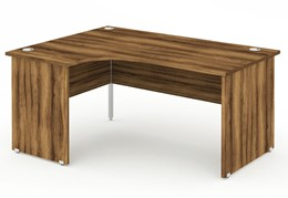 Nova Walnut  Panel End Crescent Desk
