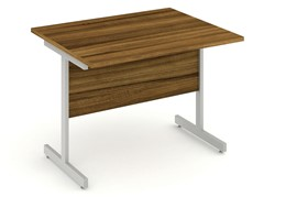 Nova Walnut Return Cantilever Desk
