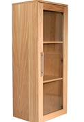 Oakwood Narrow Glazed Bookcase
