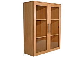 Oakwood Wide Glazed Bookcase
