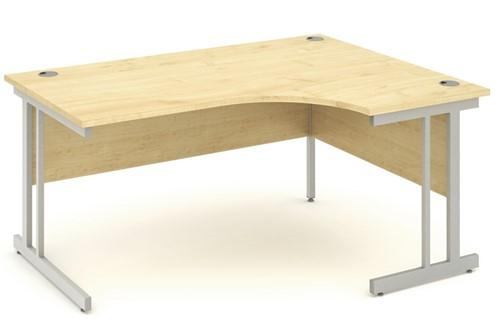 Solar Maple Cantilever Corner Desk