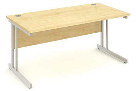 Solar Maple Rectangular Cantilever Desk