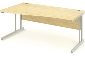 Solar Maple Cantilever Wave Desk