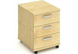 Solar Maple 3 Drawer Mobile Pedestal