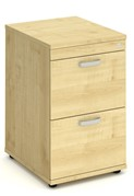 Solar Maple 2 Drawer Filing Cabinet