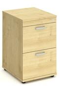 Solar Maple 2 Drawer Filing Cabinet