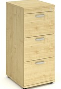 Solar Maple 3 Drawer Filing Cabinet