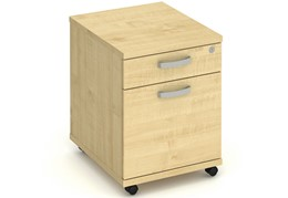 Solar Maple 2 Drawer Mobile Pedestal