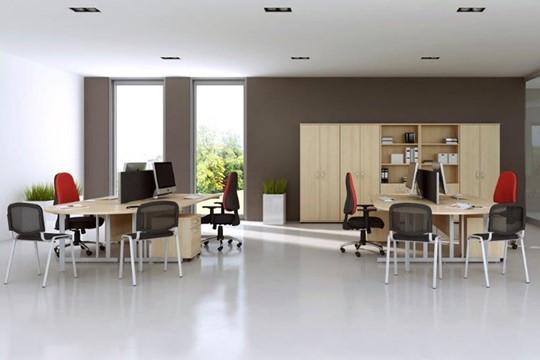 Solar Maple Desk High Office Cupboard