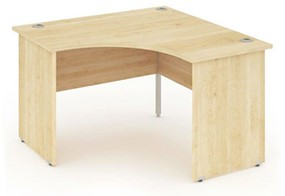 Solar Maple Corner Panel Leg Desk
