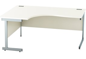Avon White Crescent Desk