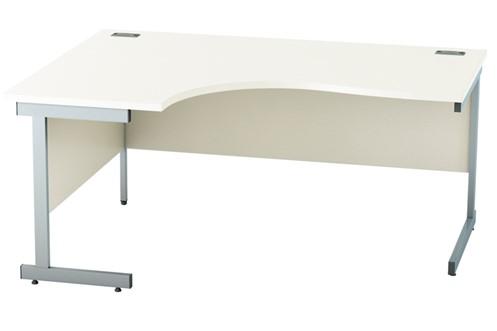Avon White Corner Cantilever Desk