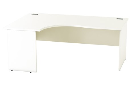 Avon White Crescent Panel End Desk