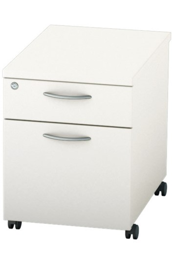 Avon White Mobile Pedestal Two Drawer