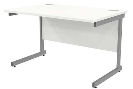 Avon White Rectangular Cantilever Desk