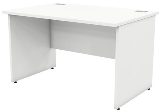 Avon White Rectangular Panel Leg Desk