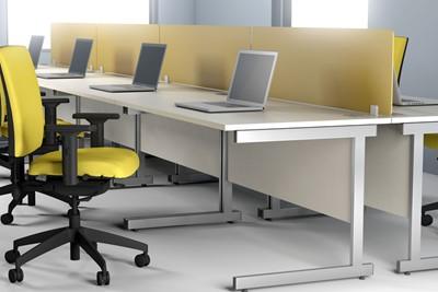 Avon White  Desk High Pedestal