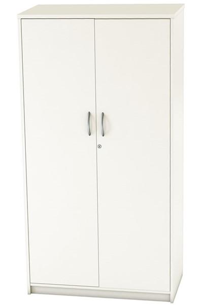 Avon White Two Door Locking Cupboard
