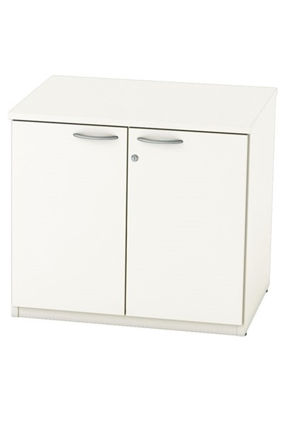 Avon White Desk High Cupboard