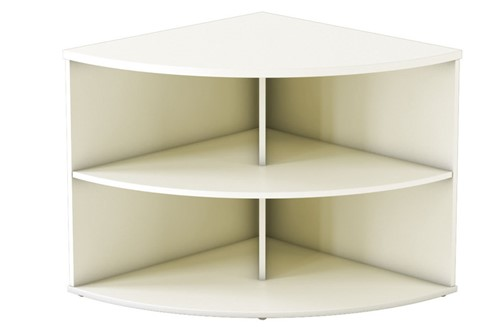 Avon White Desk High Radial Bookcase
