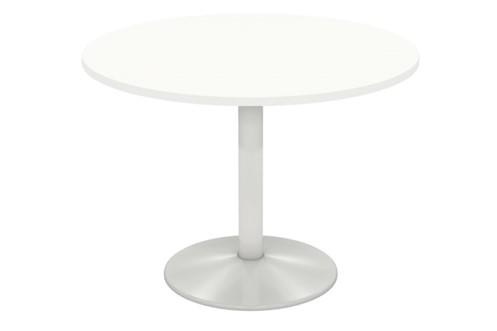 Avon White Column Leg Meeting Table