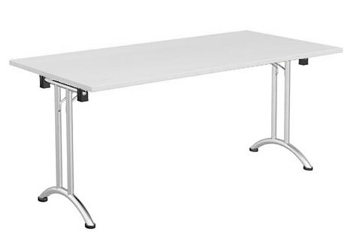 Avon White Folding Rectangular Table