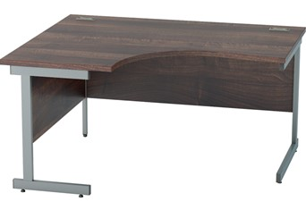 Harmony Walnut Corner Cantilever Desk- 1400mm x 1200mm Left Hand