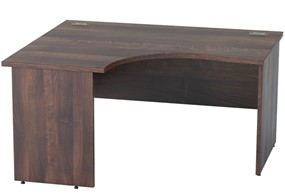 Harmony Walnut Crescent Panel End Desk