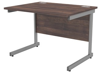 Harmony Walnut Rectangular Cantilever Desk - 800mm  x 800mm