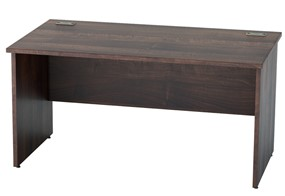 Harmony Walnut Rectangular Panel Leg Desk
