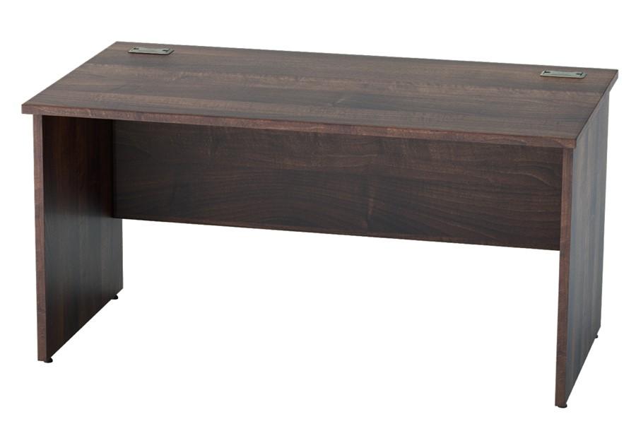 Harmony Walnut Rectangular Panel Leg Desk