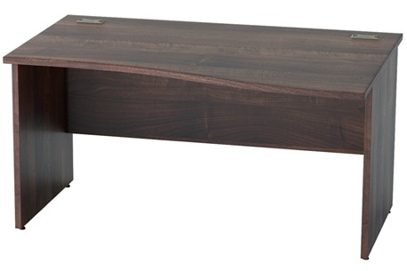 Harmony Walnut Wave Panel Leg Desk
