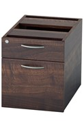 Harmony Walnut Fixed Pedestal - Two Drawers