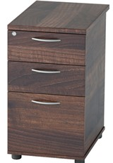 Harmony Walnut Desk High Pedestal - 3 Drawers 600mm