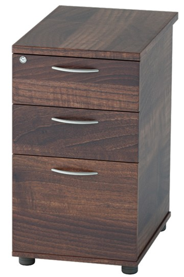 Harmony Walnut Desk High Pedestal