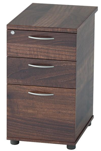 Harmony Walnut Desk High Pedestal