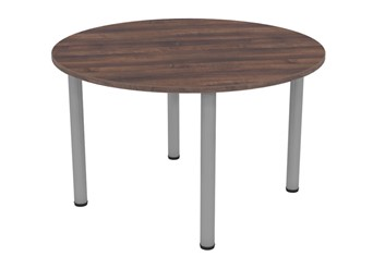Harmony Walnut Round Meeting Table - 1000mm Grey