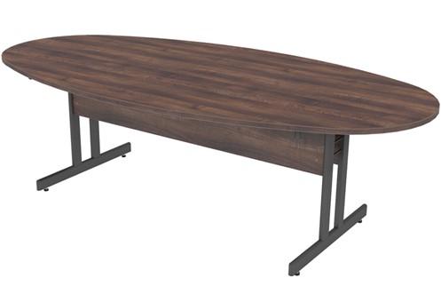 Harmony Oval Walnut Boardroom Table