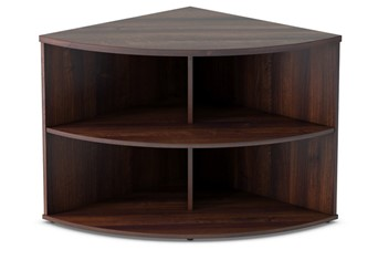 Harmony Walnut Desk High Radial Bookcase