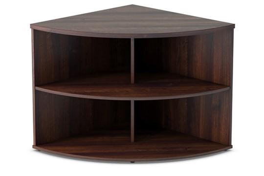 Harmony Walnut Desk High Radial Bookcase