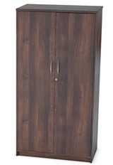 Harmony Walnut Two Door Locking Cupboard